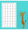 Draw on the squares A cute cartoon giraffe vector image