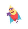 flat cartoon character of elderly superhero in vector image