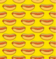 hot dogs on yellow background vector image
