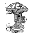 large radio telescope vector image