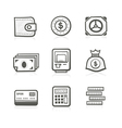 Money related icon set vector image