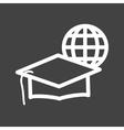Online Graduation vector image
