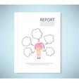 Report Dream girl cartoon vector image
