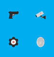 set of simple crime icons elements bioskyner vector image