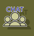 sticker mobile phone chat interface design vector image