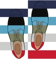 Advertising mens shoes The color palette is the vector image