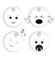 Baby smile icons vector image