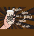 Coffee gothic labels vector image