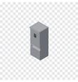 isolated refrigerator isometric kitchen fridge vector image