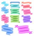 colorful ribbon set vector image vector image