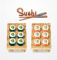 sushi set Philadelphia classic Salmon Philadelphia vector image