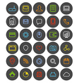 Different simple web navigation pictograms collect vector image