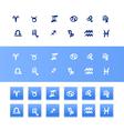 Handdrawn zodiac signs vector image