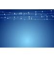 Abstract blue shiny Christmas garland decoration vector image
