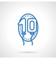 Anniversary balloons icon blue line style vector image