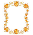 Fantasy jewel frame template vector image