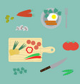 healthy breakfast flat style vector image