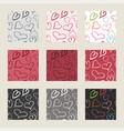 hearts pattern set vector image