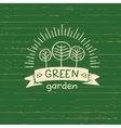 logo green gardenLogo organic food Hand vector image