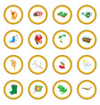 spring icon circle vector image