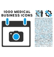 Photo Camera Calendar Day Icon With 1000 Medical vector image