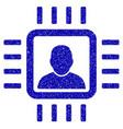 neuro processor icon grunge watermark