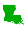 Map of Louisiana vector image vector image