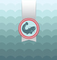 postcard catfish vector image vector image