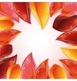rose petal frame vector image vector image