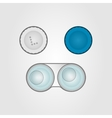 Contact lens case without caps vector image vector image
