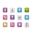 night club and bar icons vector image vector image
