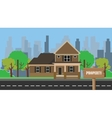 property building home with wood sign board vector image