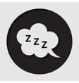 information icon - ZZZ speech bubble vector image