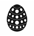 Egg for easter icon black simple style vector image