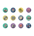 Flooring materials round color icons vector image