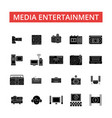 media entertainment thin line icons vector image