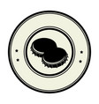 monochrome circular frame with metal beer lid vector image