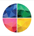 red green yellow and blue geometric vector image