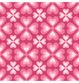 seamless pattern of stylized flowers and hearts vector image