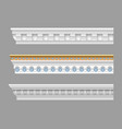 set of classical cornices vector image