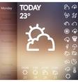 Weather Widget UI set vector image