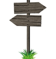 Wooden arrows road sign vector image
