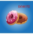 Glazed colored donuts vector image