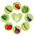 vegetables healthy food ingredient vector image