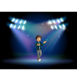 A teenager in the middle of the stage vector image vector image