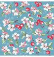 Vintage Floral Background - seamless pattern vector image