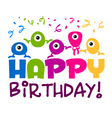 Happy Birthday Greeting Card vector image vector image