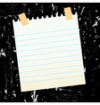sheet of paper on grungy background vector image vector image