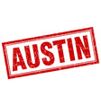 Austin red square grunge stamp on white vector image