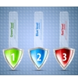 Set of banners with shields vector image vector image